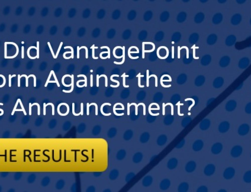 How VantagePoint Performed Against the Fed's Announcement
