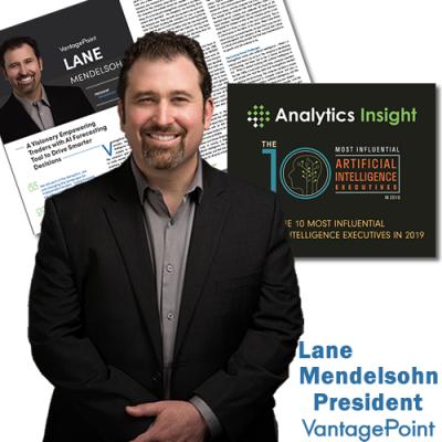 Vantagepoint President Lane Mendelsohn named Top 10 Most Influential AI Execs