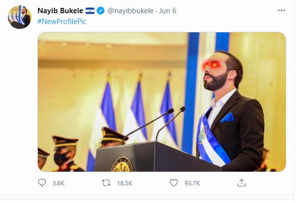 President Bukele Laser Eyes